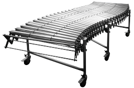 DH - extensible conveyors, steel rollers