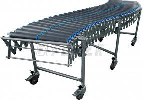 DH500 conveyor - 2 plastic rollers, extensible 2,31 - 5,80m