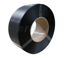 PP strap 12 x 0,70 mm, 200/190 - 2500 m, 2200 N, black