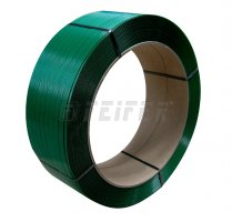 PET strap 12 x 0,60 mm, 406/145 - 2500 m, 2600 N, green
