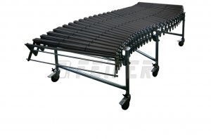 DH800 conveyor - 3 plastic rollers, extensible 1,10 - 2,68m