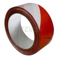 50 mm x 66 m - self adhesive tape, red-white