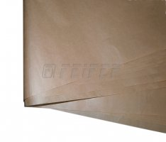 Paper interleave 1230 x 810 mm, unilaterally smoothed brown sulfate 40 gr.