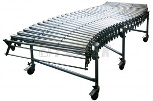 DH500 conveyor - 2 steel rollers, extensible 1,10 - 2,68m