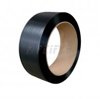 PP strap 12 x 0,70 mm, 406/150 - 2000 m, 1850 N, black