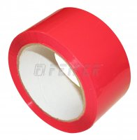 48 mm x 66 m - self adhesive tape, red
