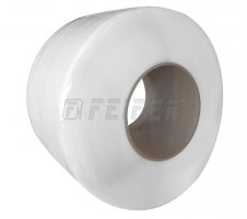 PP strap 8 x 0,55 mm, 200/190 - 4500 m, 950 N, white